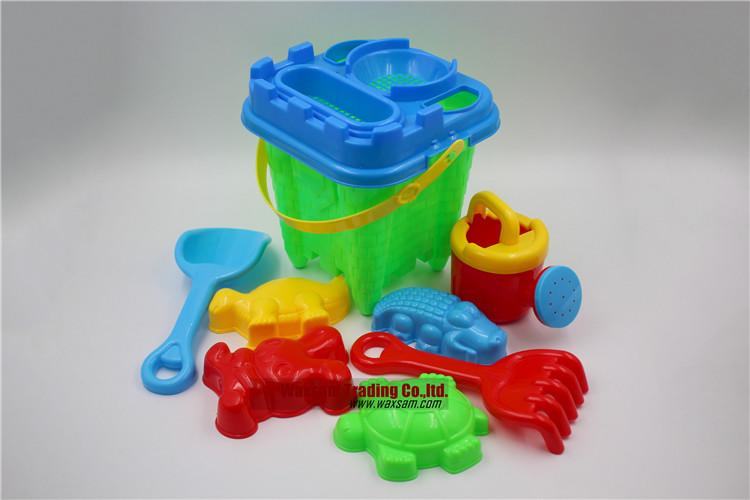 Sand Toys Kit with Sand Castle Bucket for Kids